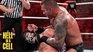 Randy Orton ruthlessly twists Jeff Hardy's earlobe with a screwdriver: WWE Hell in a Cell 2018