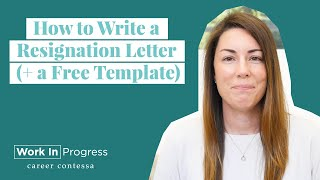 How To Write A Resignation Letter ( A Free Template)