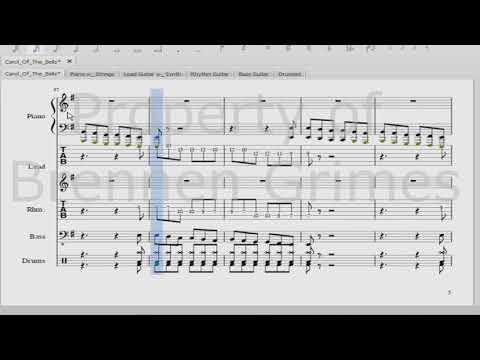Trans-Syberian Orchestra - Carol of the Bells - Sheet Music Arrangement