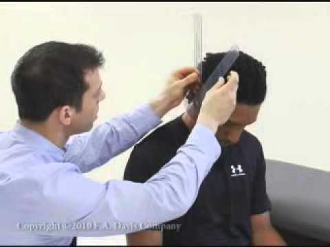 how to use a goniometer neck