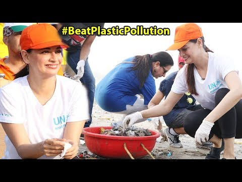 Dia Mirza Helps Clean Versova Beach As Part Of 'Beat Plastic Pollution' Initiative Mp3