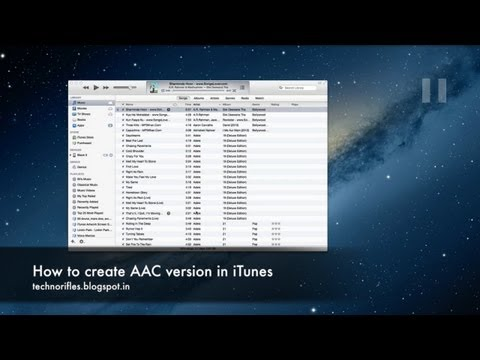 How to create a AAC version in iTunes