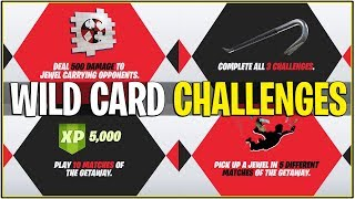 Fortnite: WILD CARD SKIN OFFICIAL CHALLENGES! (Comment déverrouiller la peau / Exclusives!)
