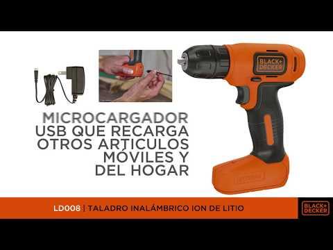 LD008 - Taladro Inalámbrico Ion de Litio de 8V