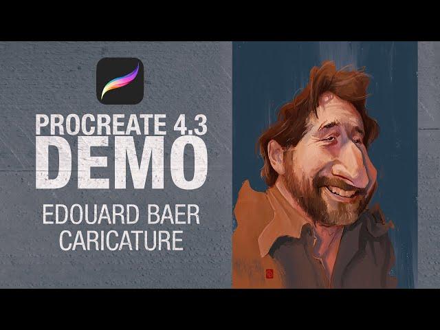 Edouard Baer Digital Caricature on Procreate