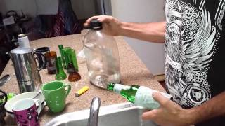 How to cut a beer bottle without string or cutter
