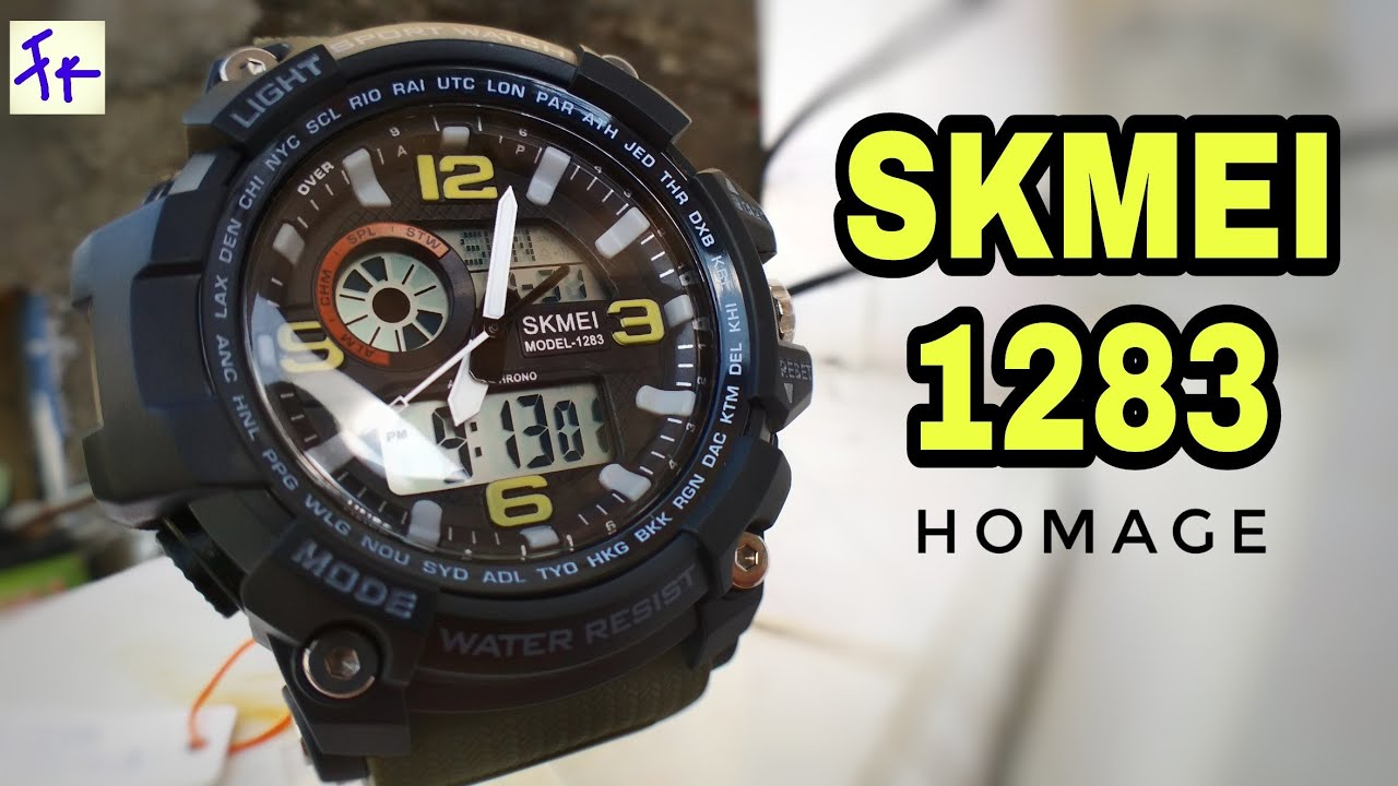 4c4bf5ba2121c SKMEI 1283 HOMAGE - Unboxing Review Setting from WATCHKITE Shopee  (Indonesia)