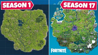 Evolution of The Entire Fortnite Map! (Chapter 1 Season 1 - Chapter 2 Season 7)