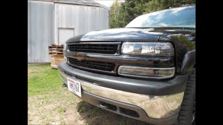 2000 Silverado 1500 Z71 Color Matching the Grill and Black Lights