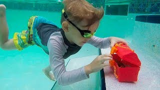 We found a TREASURE in the bottom of the POOL - What's inside?