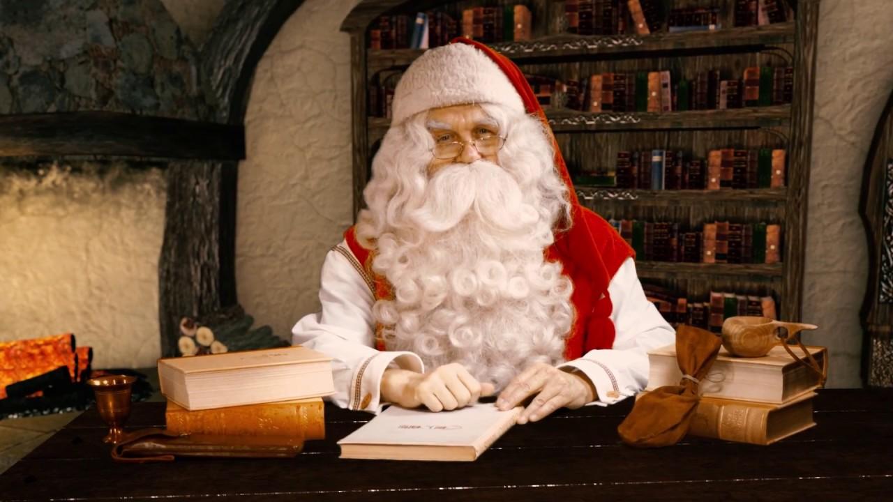 1a0d0a2ec53a4 Mensaje video de Papá Noel - Saludos de Santa Claus en Laponia Finlandia  Rovaniemi Navidad - YouTube