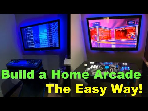 Easy Home Arcade Pedestal Build – Raspberry Pi, Pandora's Box, 6000 Games