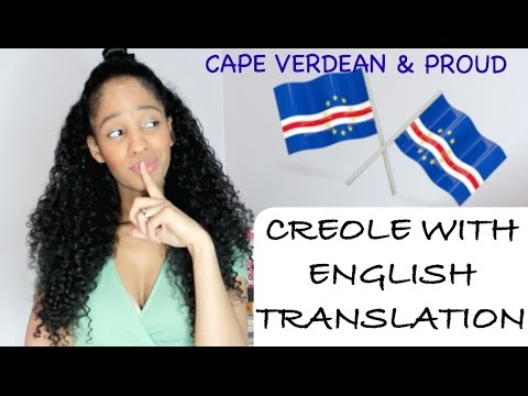 Whole Video In My Native Language Cape Verdean Creole With English Translation Grwm