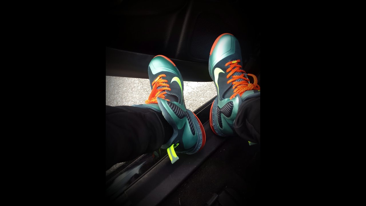 100% authentic 00942 01612 Nike Lebron 9 Cannon On Feet Review