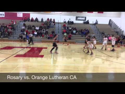Rosary Academy Camille Lira Basketball Highlights