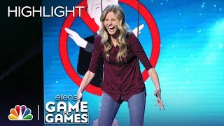 "Player Bets Ellen Likes the ""F"" Word on Don't Leave Me Hanging - Ellen's Game of Games 2019"