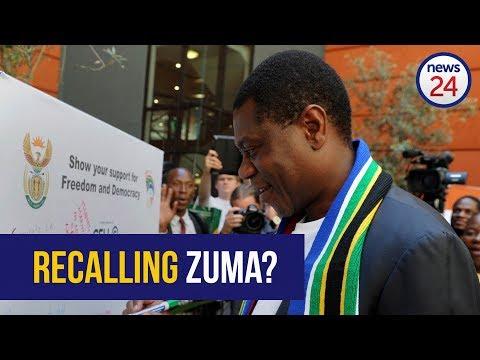 LISTEN   Mashatile: We will recall Zuma