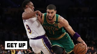 Jayson Tatum put on a clinic against the Lakers – Kendrick Perkins | Get Up