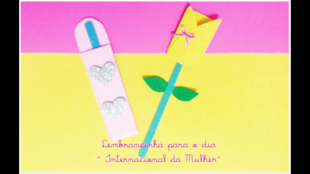 Lembrancinha dia internacional da mulher youtube for Colocar papel mural