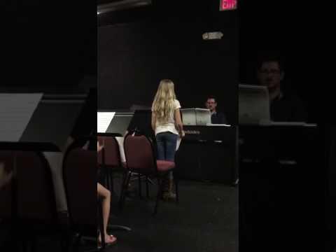 Sara's audition for Shrek the Musical!