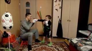 бокс. тренировка для ребенка .передвижение.Boxing. training for the child .the movement