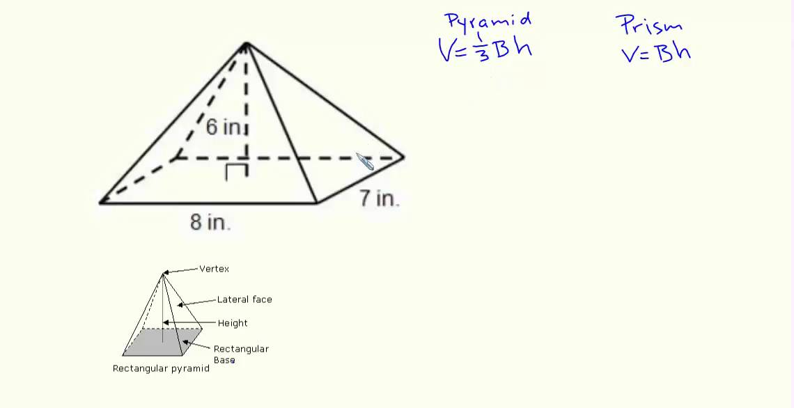 Volume of a rectangular pyramid example 1 youtube volume of a rectangular pyramid example 1 ccuart Choice Image