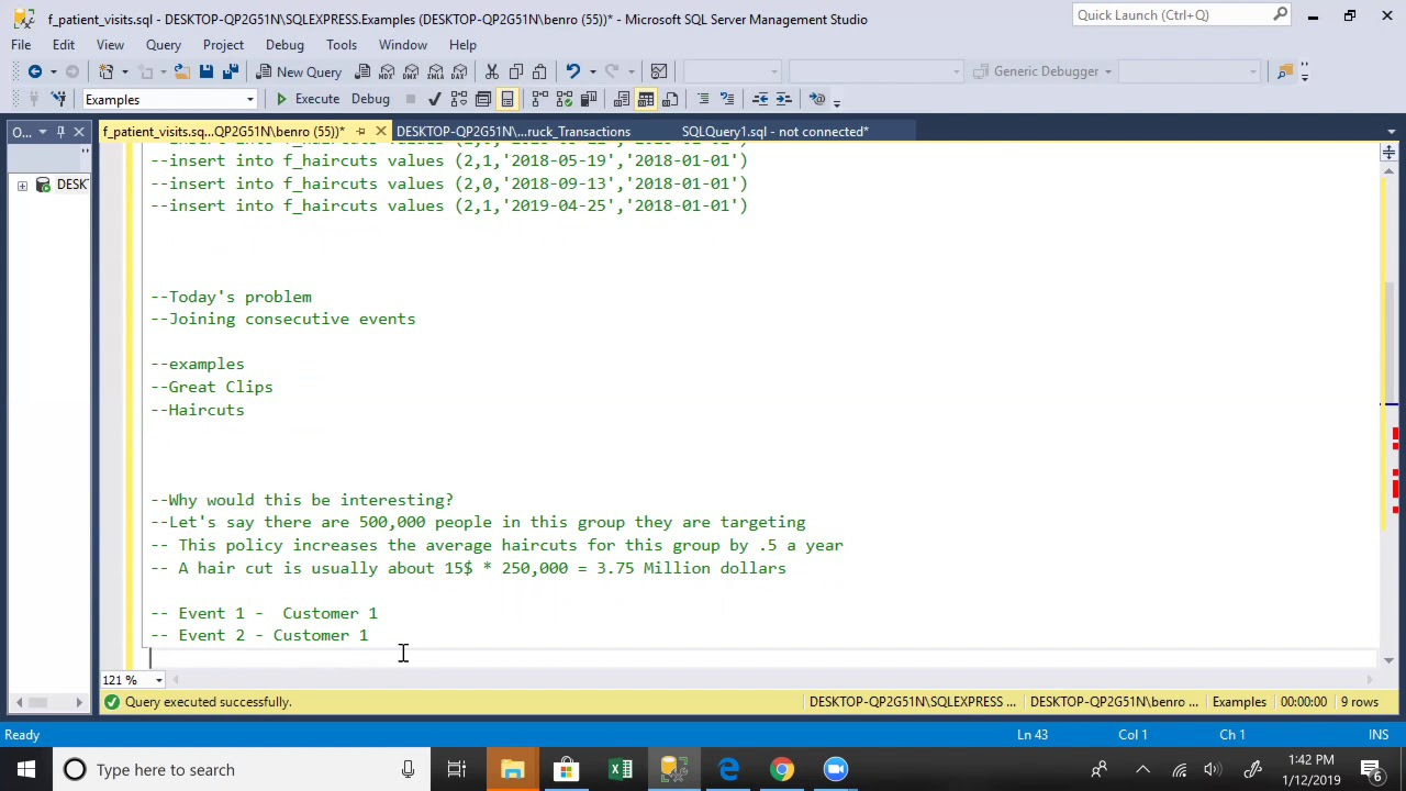 Analyzing Consecutive Events With SQL Server