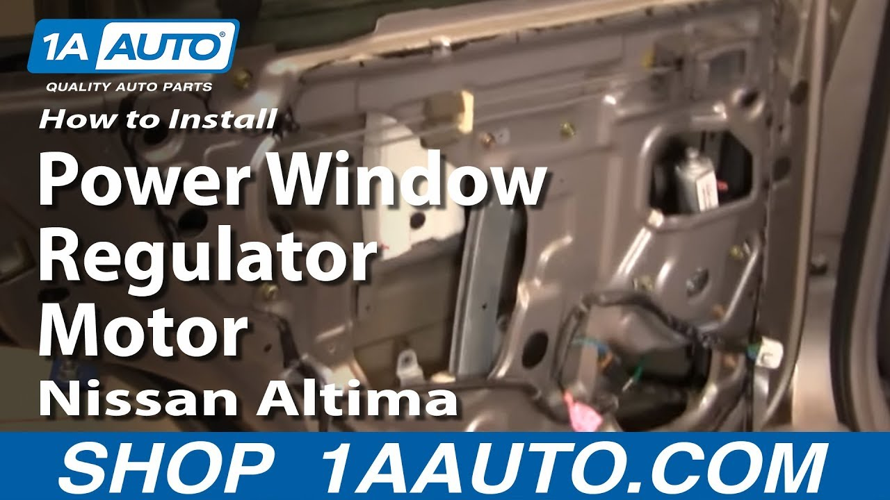 How To Install Replace Rear Power Window Regulator With