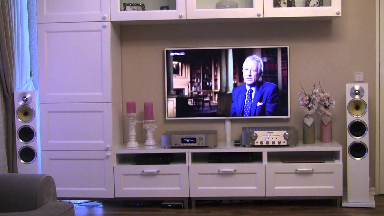b w cm8 mit marantz na7004 und marantz pm 7004 youtube. Black Bedroom Furniture Sets. Home Design Ideas