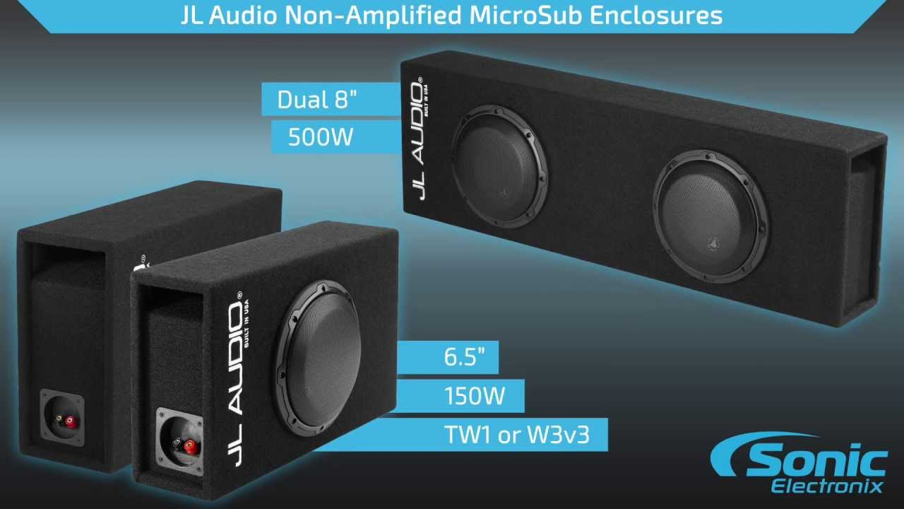 JL Audio MicroSub Ported Loaded Subwoofer Enclosures | Product ...