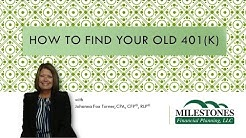 How to find an old 401k