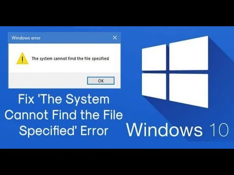 How To Fix 'The System Cannot Find the File Specified' Error Techlogic tariq