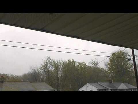 Hurricane Sandy - Tree branch comes down from wind gust