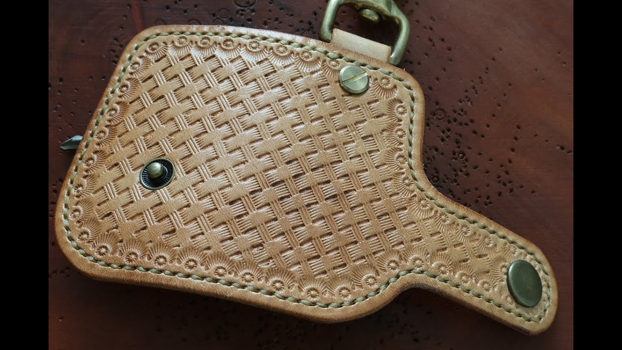 Basket Weave Pattern On Leather : Basketweave leather stamping