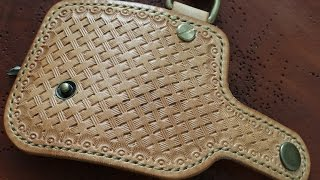basketweave leather stamping