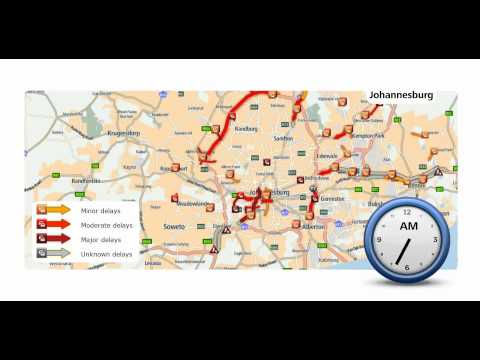 Real Time Traffic   Johannesburg fast