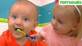 Escove Os Dentes - canção para crianças   Canções infantis   Katya e Dima