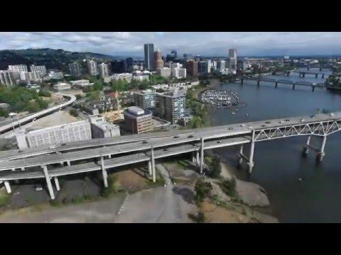 4K Drone Video of Portland and Oregon Coast
