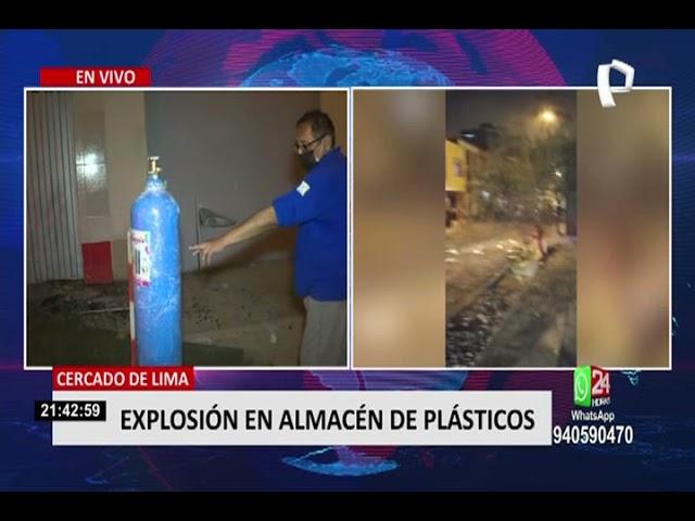 Explosión en almacén de plásticos daña casas cercanas