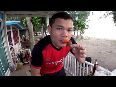 เที่ยวจันทบุรีEP.2เดินตลาดอาหารทะเลสดๆหาดเจ้าหลาว จันทบุรี