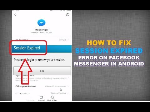 How to fix Session Expired Error on Facebook Messenger in Android