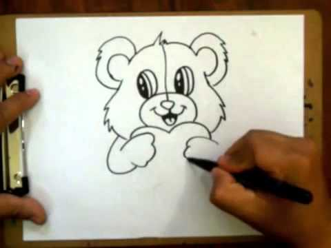 How To Draw A Valentines Teddy Bear With Heart Requested