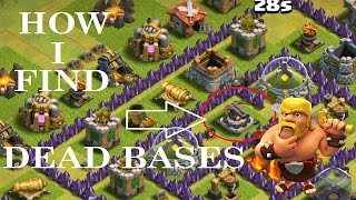 HINDI/ HOW I FIND DEAD BASES AND HUGE LOOT IN CLASH OF CLANS IN HINDI