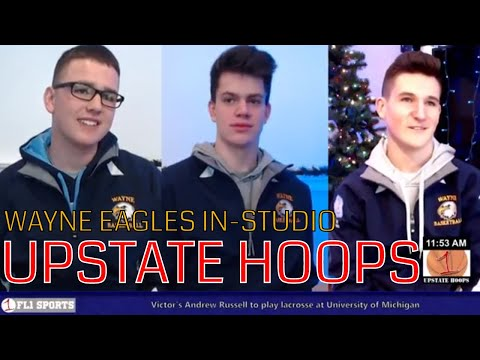 Thompson, Blankenberg & Carmichael of Wayne Eagles in-studio .::. Upstate Hoops Podcast 12/31/17