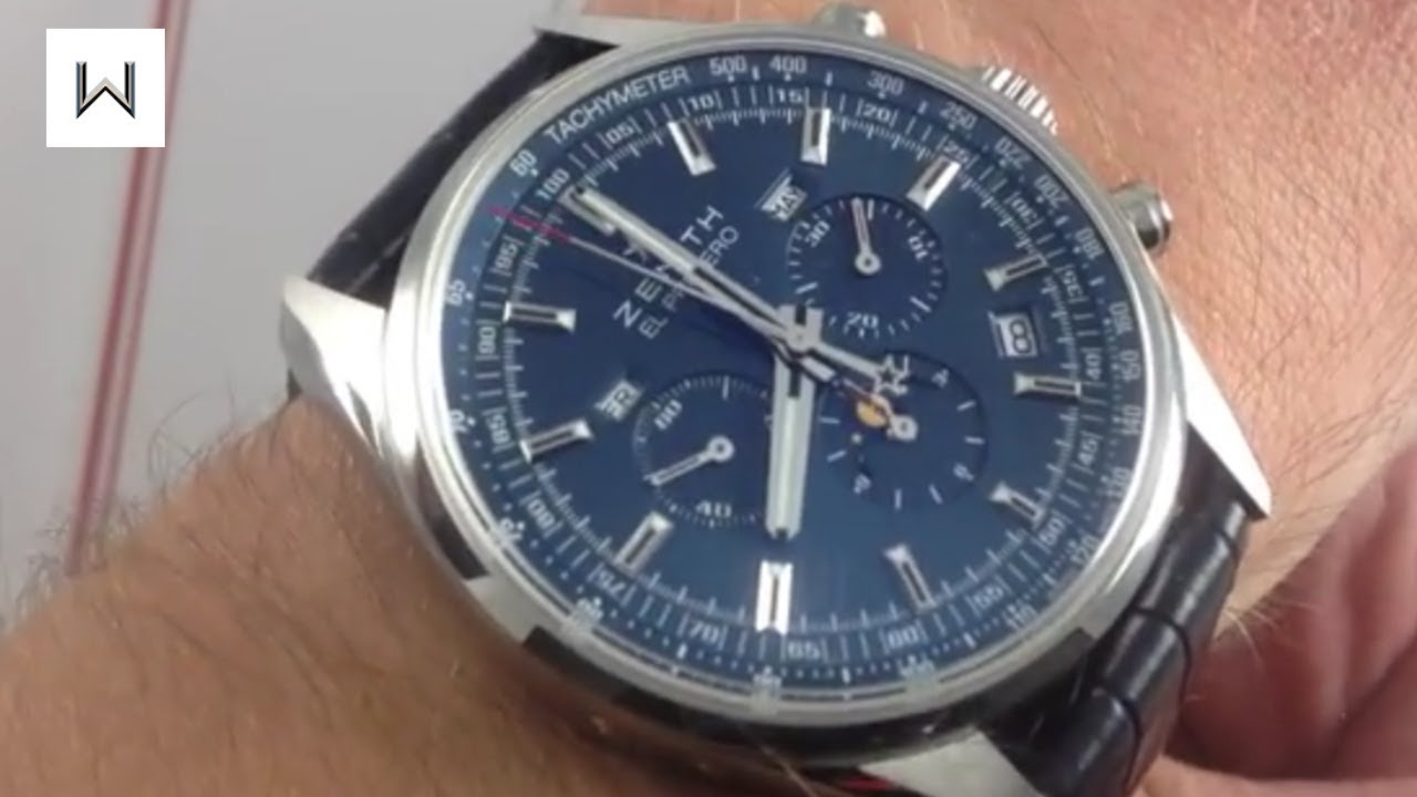 Zenith El Primero 410 Charles Vermot Tribute Edition Luxury Watch