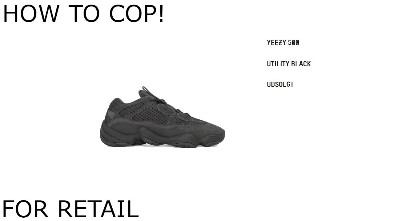 aa253d87dac8f YEEZY 500 UTILITY BLACK STOCK NUMBERS AND OPINION - YouTube