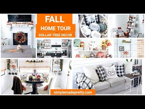 FALL Home Tour - Dollar Tree Fall Decor, DIY Fall Decor, Fall Home Decor