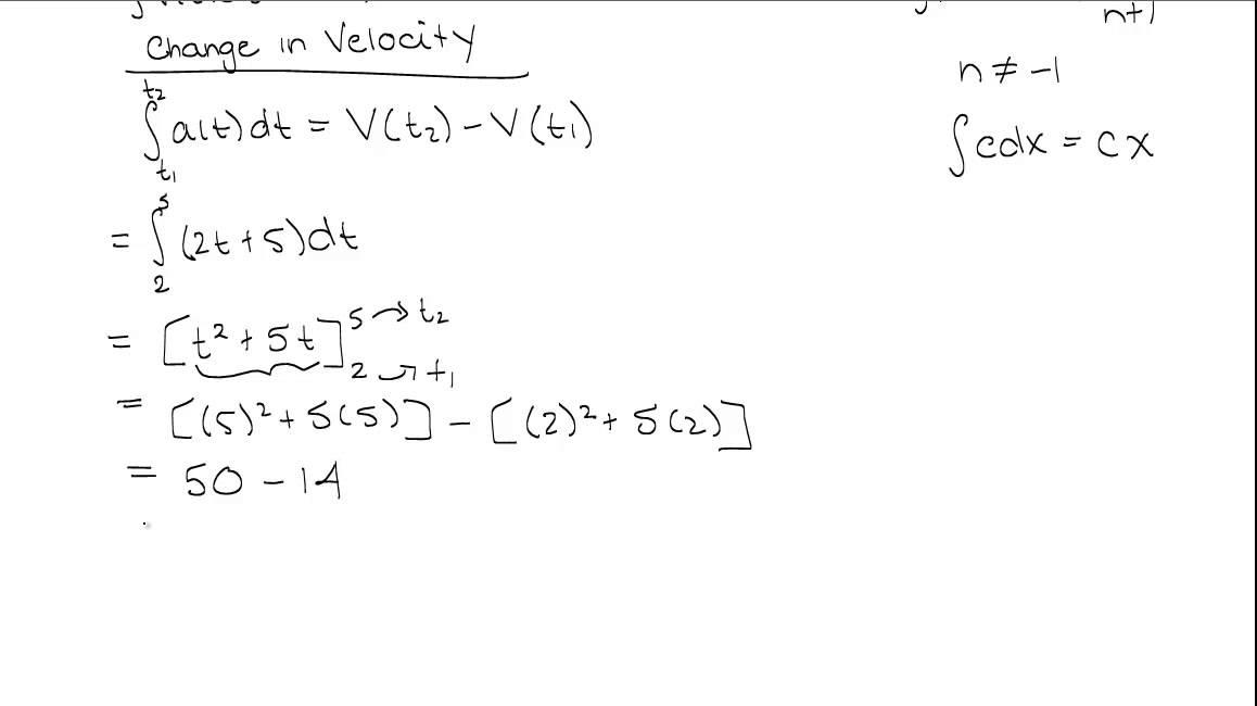 Net Change Theorem - Example 1 - YouTube