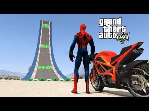 SUPERHEROES EXTREME ULTRA RAMPA JUMPING with (Ironman | Hulk | Spiderman | Venom | DeadPool |Joker)