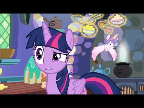 Flurry Heart messing up Twilight pudding